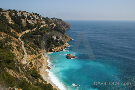 Spain javea cliff sky cyan.
