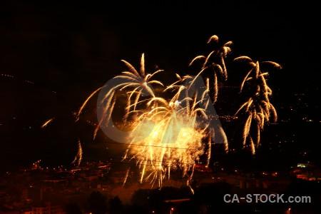 Spain javea firework black orange.