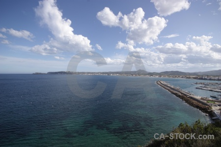 Spain javea harbour sea europe.