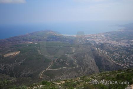 Spain javea montgo climb la plana coast.