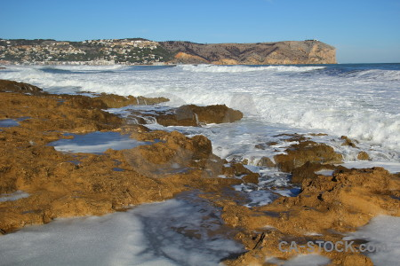 Spain javea sea wave europe.