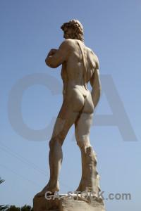 Spain javea sky statue europe.