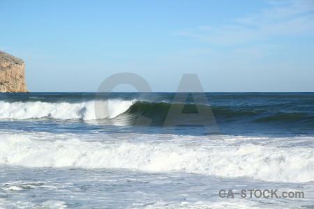 Spain javea water europe wave.