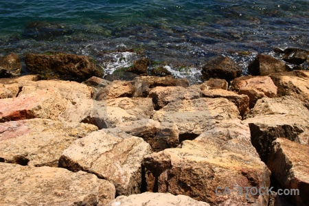 Spain javea water sea rock.