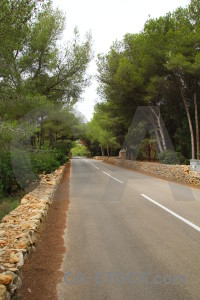Spain javea white green road.