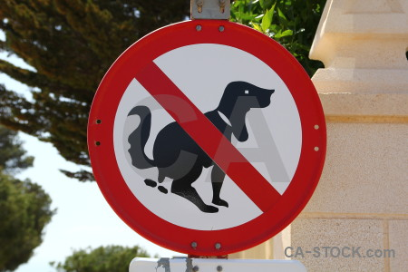 Spain red europe dog sign.