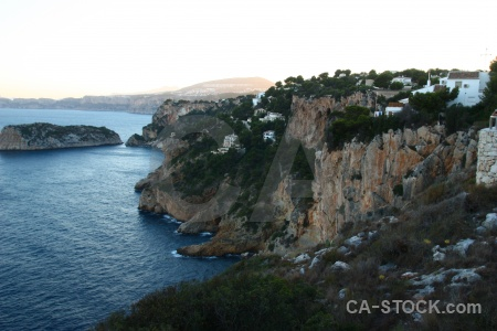 Spain rock europe javea cliff.