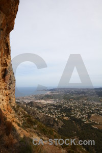 Spain rock javea europe montgo eye climb.