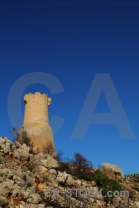 Spain ruin blue torre del gerro javea.