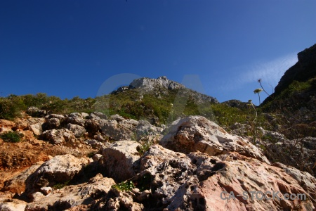 Spain sky blue europe rock.