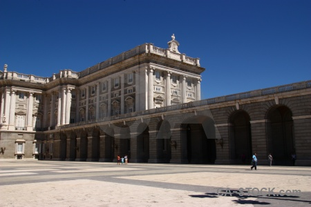 Spain sky building royal palace.
