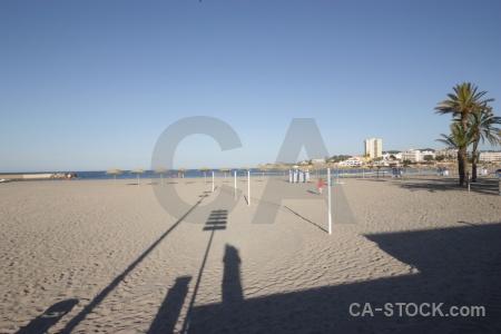 Spain sky sand europe shadow.