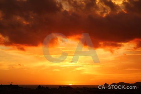 Spain sky sunset javea cloud.