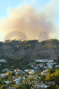 Spain smoke javea europe montgo fire.