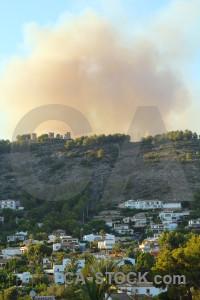 Spain smoke javea europe montgo fire.