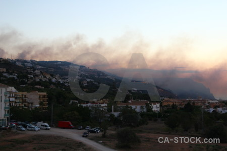 Spain smoke javea montgo fire europe.