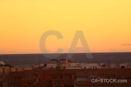 Spain sunrise sunset javea europe.