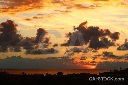 Spain sunset javea cloud sky.