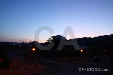 Spain sunset sunrise cloud silhouette.