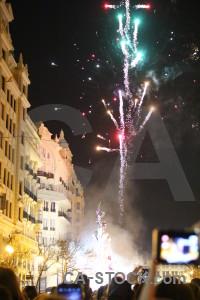 Spain valencia person yellow firework.