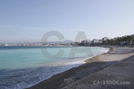 Spain water beach sky europe.