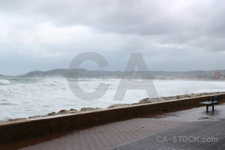 Spain wave white storm javea.