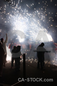 Spain white fiesta correfocs europe.