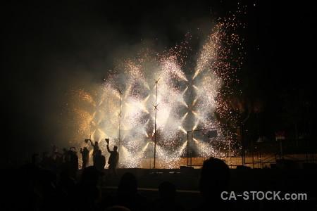 Spark europe black spain firework.