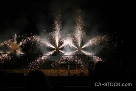 Spark firework spain javea europe.