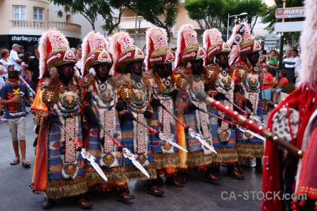 Spear costume moors christian javea.