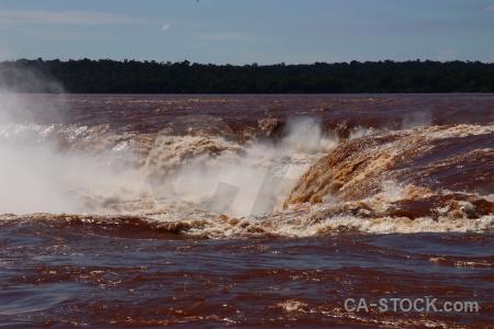 Spray iguassu falls iguazu river sky.