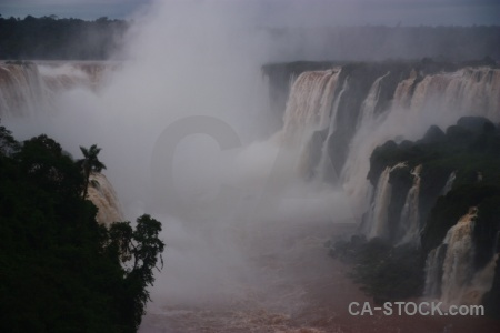 Spray iguazu falls waterfall river iguassu.