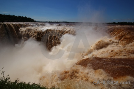 Spray south america sky iguazu falls water.