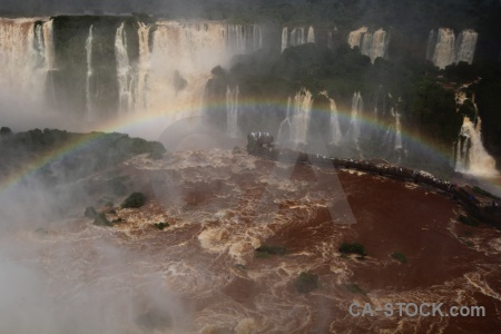 Spray tree brazil waterfall river.