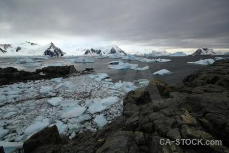 Square bay rock ice sea antarctica cruise.
