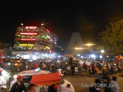Square building car hanoi road.