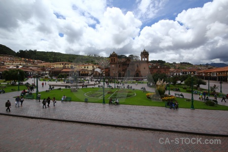 Square south america cloud cusco sky.