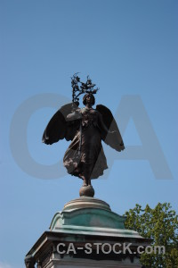 Statue angel blue.