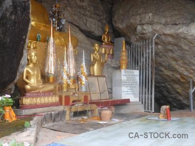 Statue asia buddhism mount phousi luang prabang.