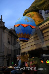 Statue fallas valencia spain blue.