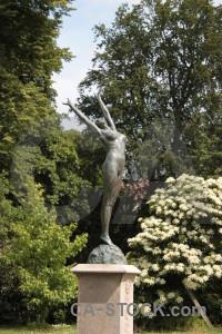 Statue figure green.