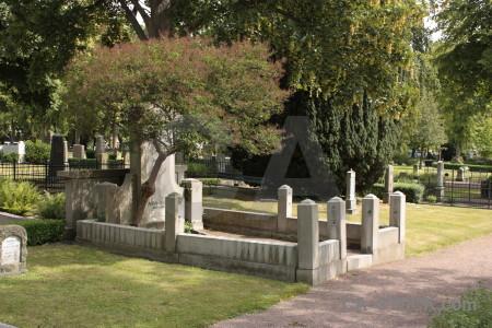 Statue green cemetery grave.