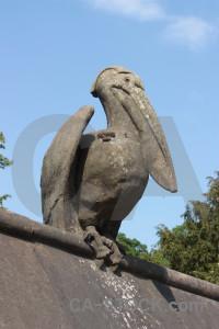 Statue pelican animal.
