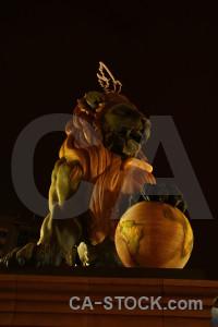 Statue valencia spain europe lion.