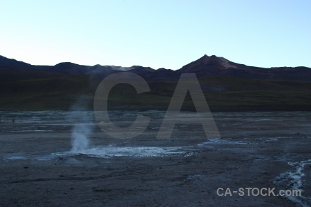 Steam el tatio south america chile mountain.