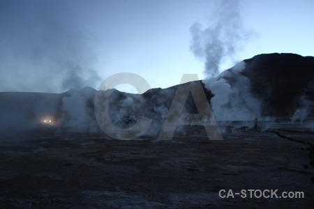 Steam sky atacama desert el tatio mountain.