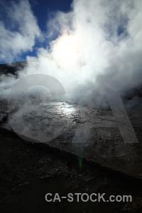 Steam sun atacama desert mountain sky.