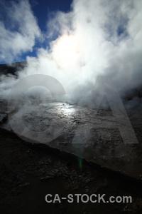 Steam sun atacama desert mountain sky.