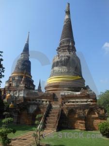 Step brick wat yai chai mongkol buddhist phra chedi chaimongkol.