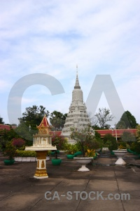 Step palace cambodia cloud asia.